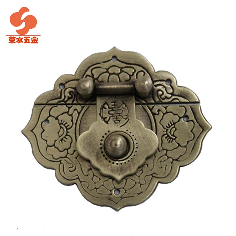 [Hardware] water wing ming and qing chinese antique furniture pieces of copper long 5.5cmcm buckle clasp c-043