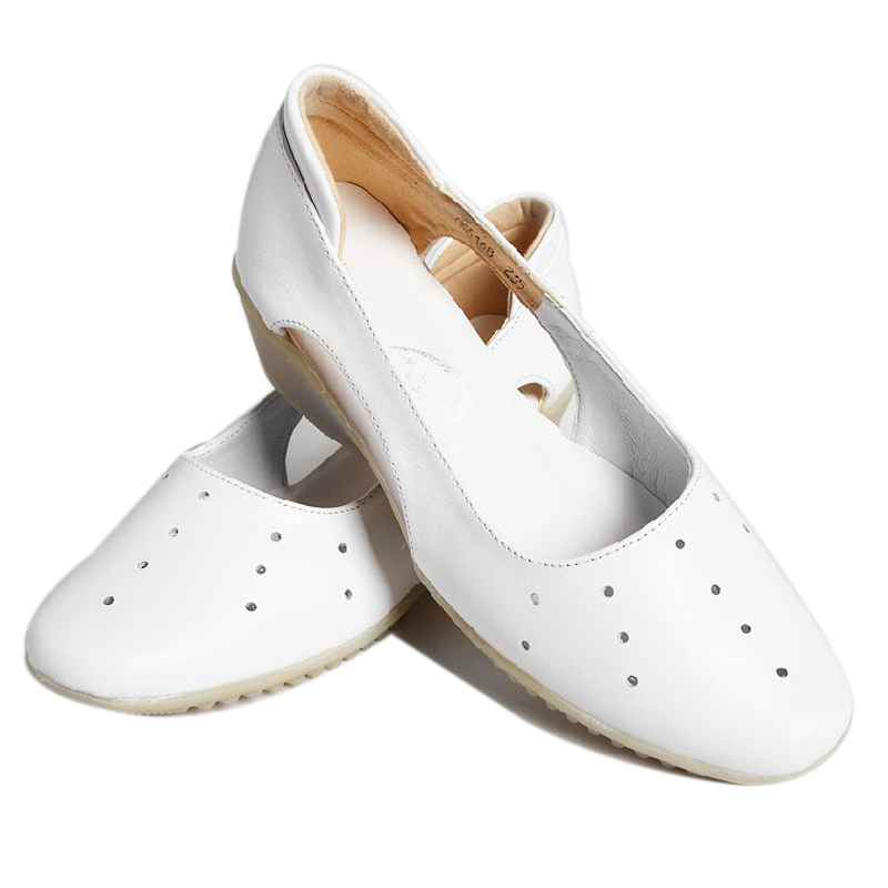 Agere good nurse shoes women's flagship store in good health care expert genuine hollow flat shoes to help low 6168