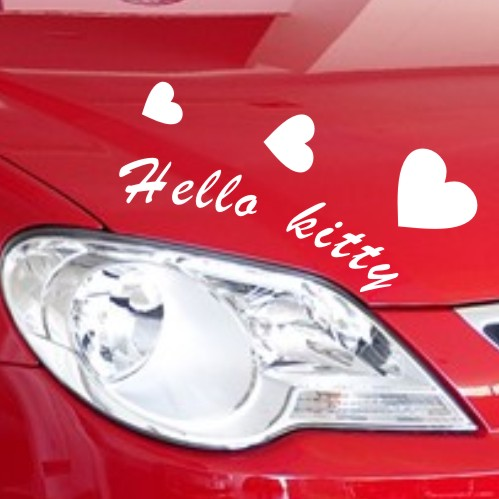 Cartoon hearts love love kt cartoon car sticker reflective car stickers headlight lamp eyebrow eyebrow lights affixed stickers