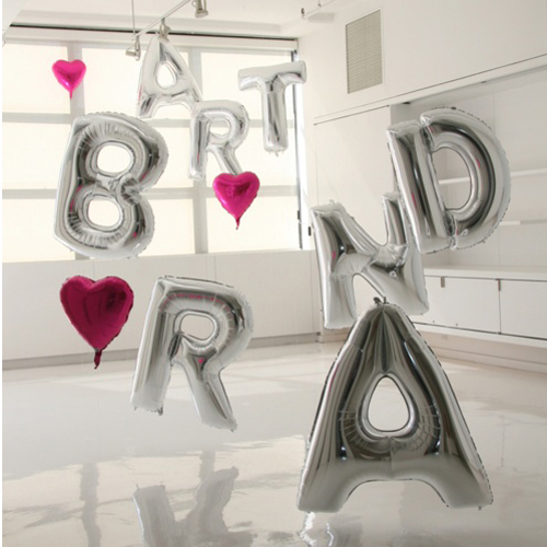 16 inch silver aluminum foil balloons letters a-t wedding wedding birthday party supplies decorative balloon