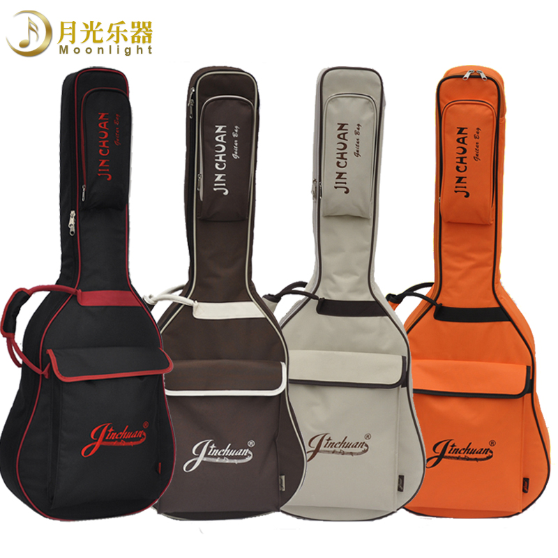 Free shipping guitar package 41 inch thick guitar bag jinchuan new shoulder upscale plus thick sponge to send gifts