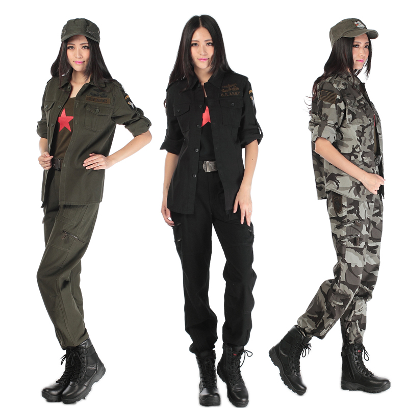 Military wild line of outdoor suit ms. spring models camouflage suits for training military fans mountaineering tourism and leisure sports suit