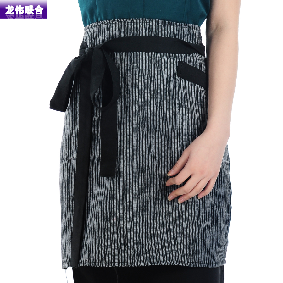 Long wei joint wq kitchen white chef aprons aprons overalls half apron kitchen aprons for men and women