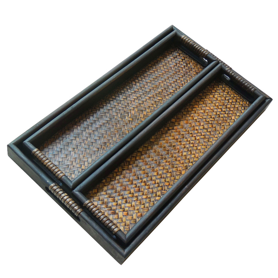 Poem maha thai spa supplies tray tray compote living room hotel bamboo wood imported oil pan