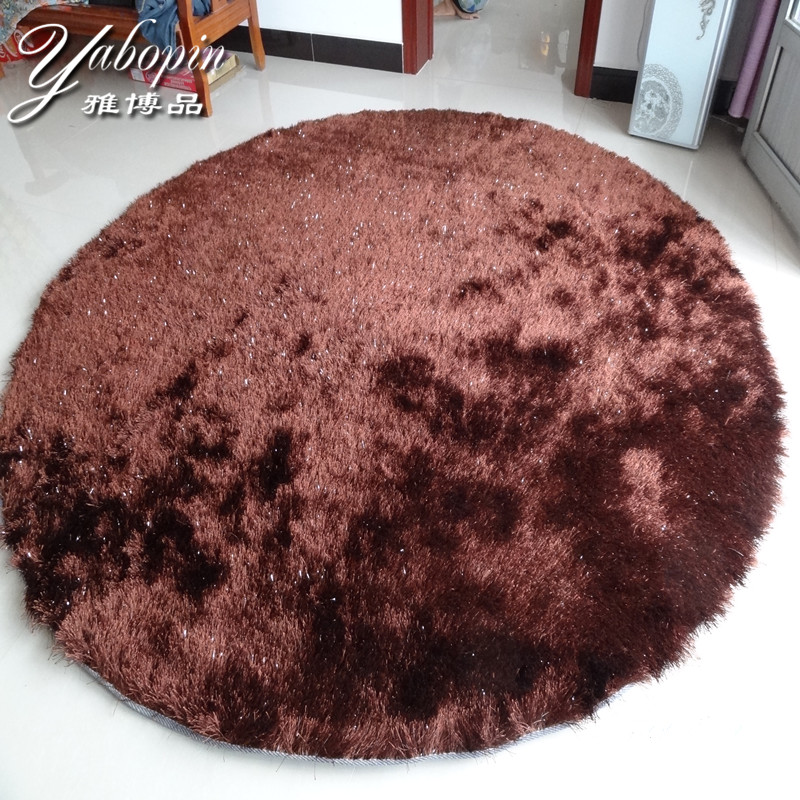 Ya product korean silk silky circular living room coffee table carpet study bedroom bedside computer upholstery carpet