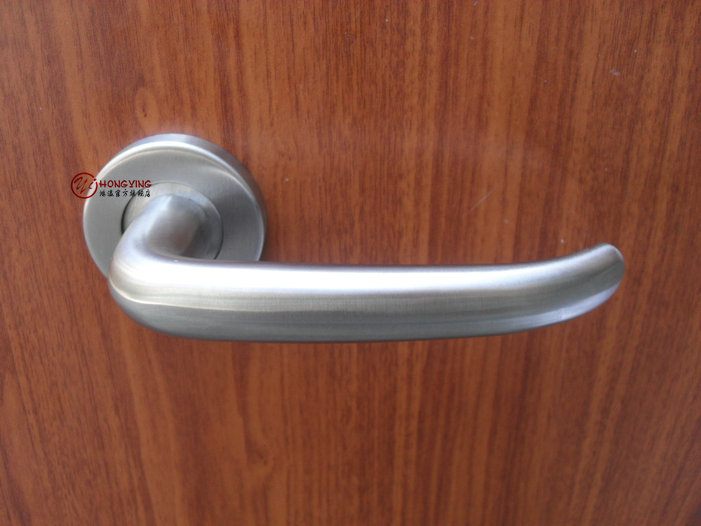 Germany hung ying invisible door handle surface mounted 304 stainless steel single handle bathroom door handle handle