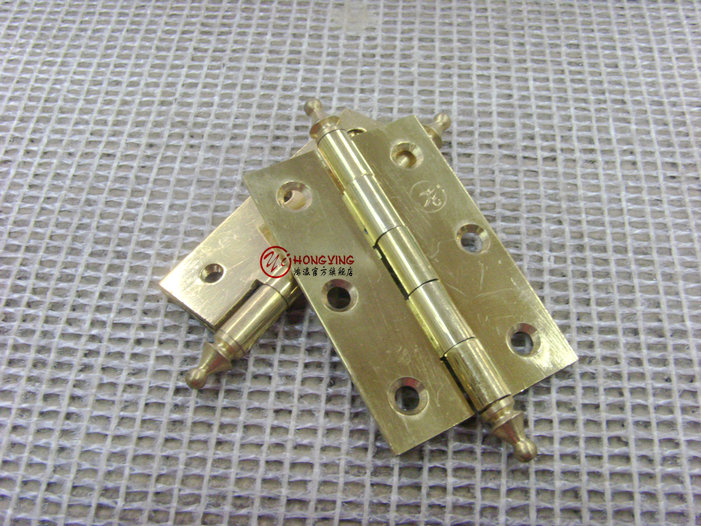 Germany hung ying copper hinge hinge 2.5 copper gold cupboard door furniture door hinge hinge door hinge