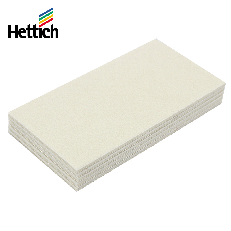 Hettich/hettich scratch felt table mat 100x200mm white sticky pad 49314