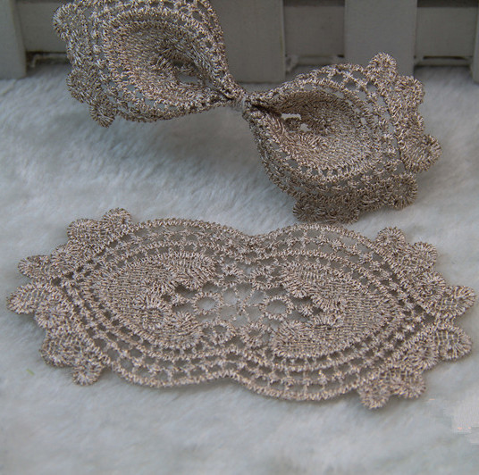 Accessories gold lace cloth stickers affixed cloth accessories diy handmade lace headdress hairpin material