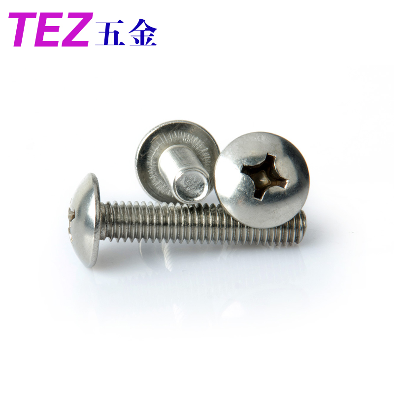 Large flat machine screws umbrella mushroom head screws m6 series 201 stainless steel material