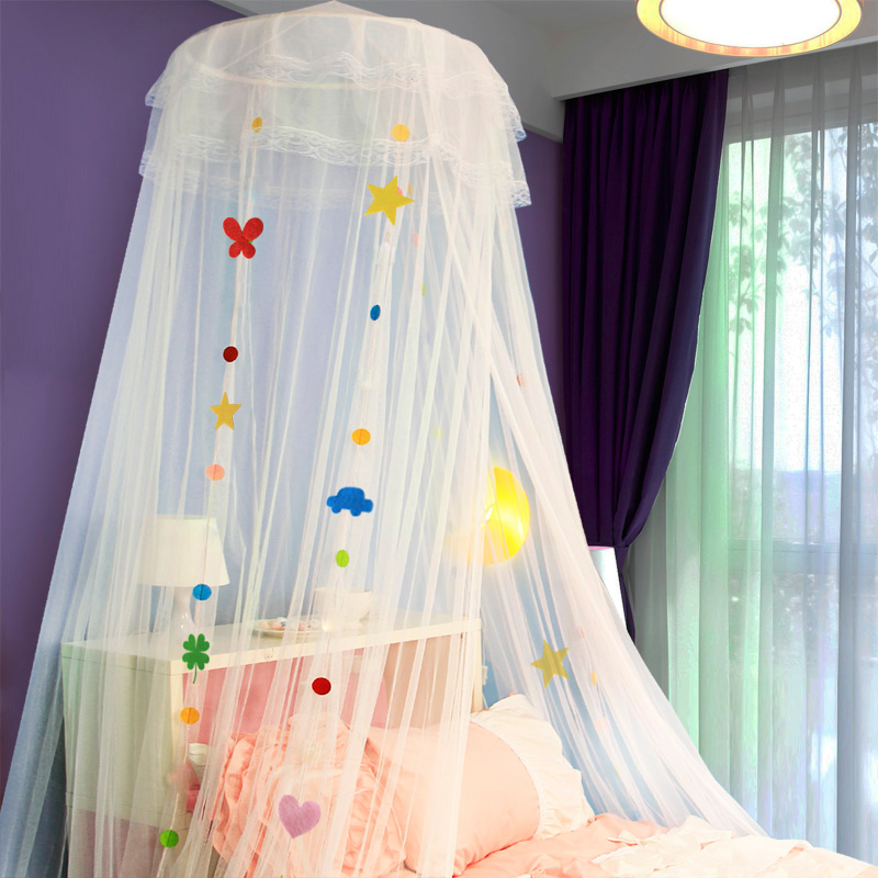 Children mosquito nets palace dome ceiling mosquito nets princess bed mantle 1.2/1.5/1.8 m bed student beds