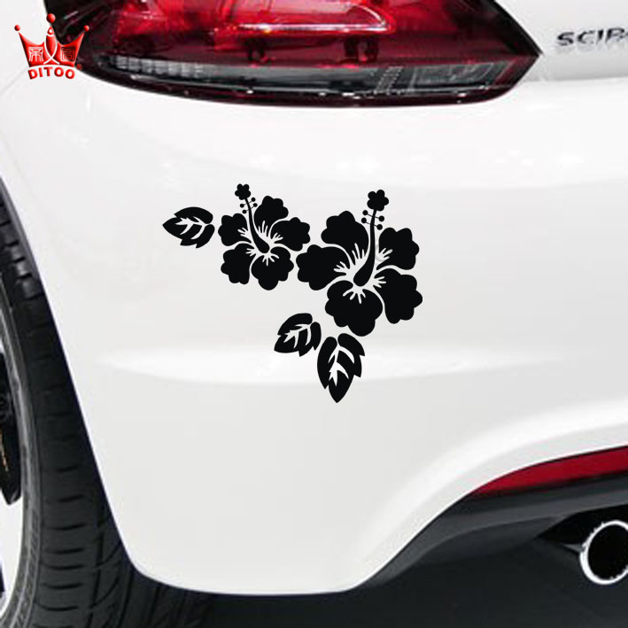Di figure flowers occlusion random scratches car stickers car stickers motorcycle decals car stickers garland decoration stickers reflective car stickers
