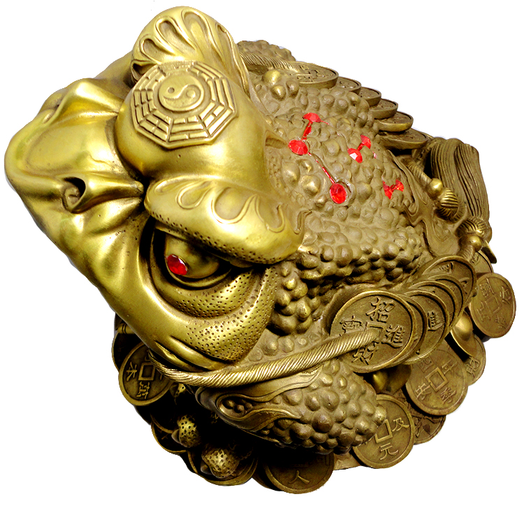 Copper gold ornaments lucky toad ornaments three legged toad toad toad xianbao