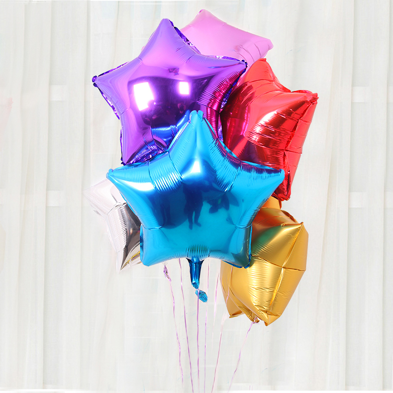 18 inch pentagram aluminum/aluminum foil balloons birthday party wedding ceremony marriage room decoration wedding supplies furnished