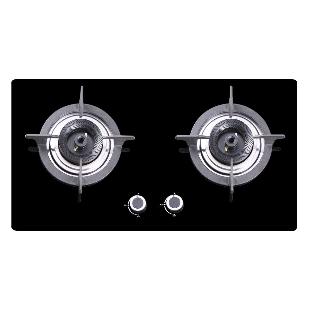 Hi all the earth z008 proof glass panel embedded gas stove gas stove gas stove gas stove aluminum edging