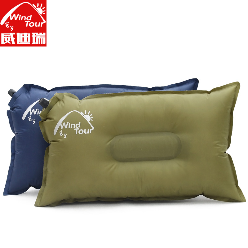 Windtour/wei dirui outdoor portable inflatable pillow travel pillow inflatable pillow automatic inflatable pillow waist by