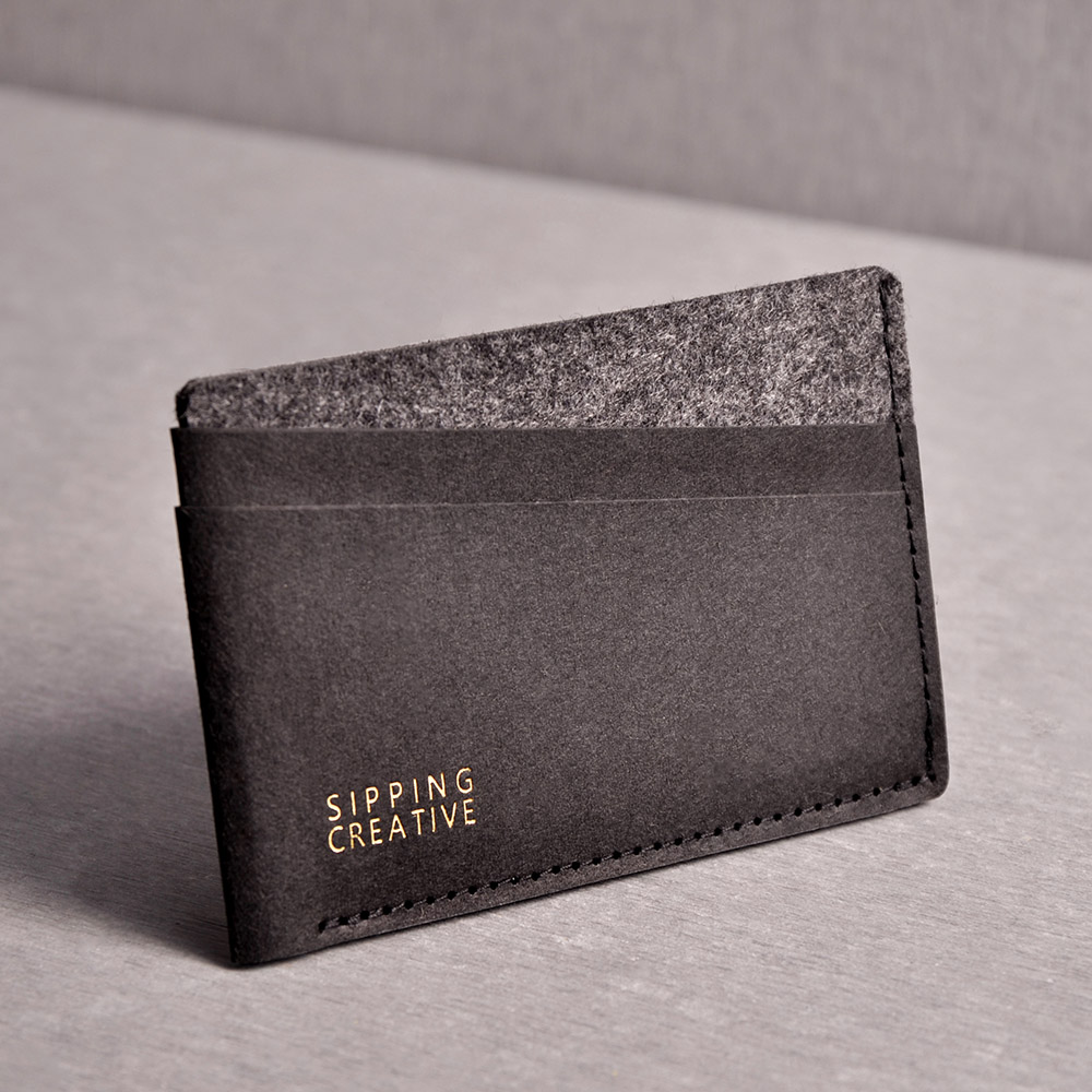 [Creative] credit card sipping clip-minimalist black taiwan's official website direct mail import