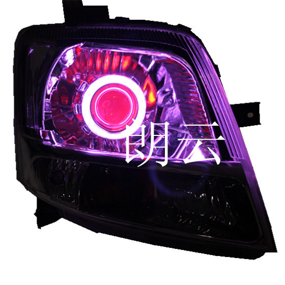 Suzuki waves di headlight assembly modified bifocal lens hid xenon lamp angel eyes devil eyes led color tears
