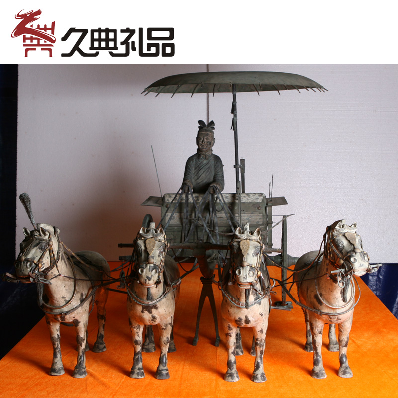 Terracotta warriors and horses crafts chariot no. 1/2 brassware archaized bronzeware hotel opened ornaments extraordinary gifts