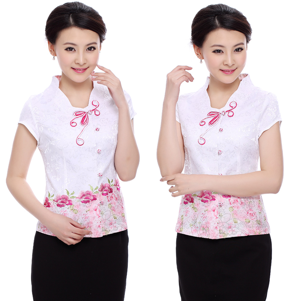 Amy xin si chinese female costume tea room restaurant waiter uniforms hotel restaurant hotel uniforms summer