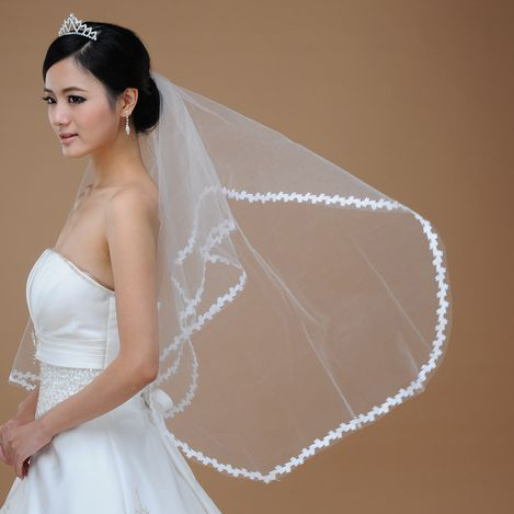 Bai approximately popular cute lace veil bridal veil 1.5 m super affordable white wild section