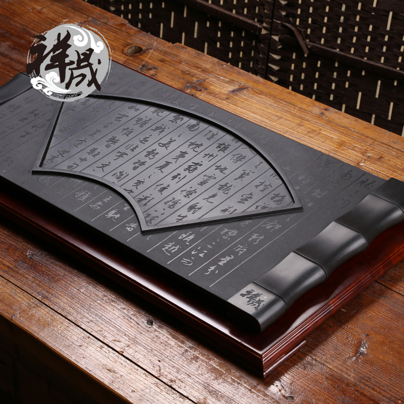 Xiang sheng specials advanced inblock large black stone black stone tea tray tea tray natural stone craft tray black stone plate