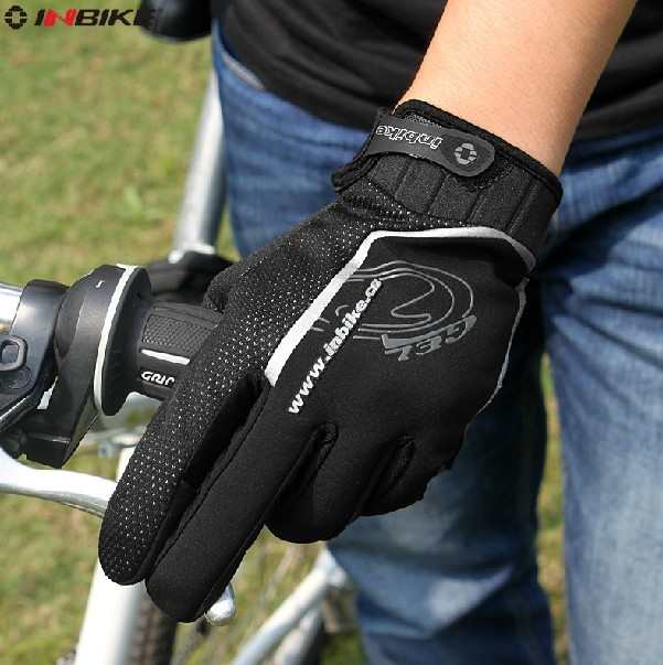 Inbike autumn and winter warm wind riding gloves bike gloves full finger gloves long finger gloves thin