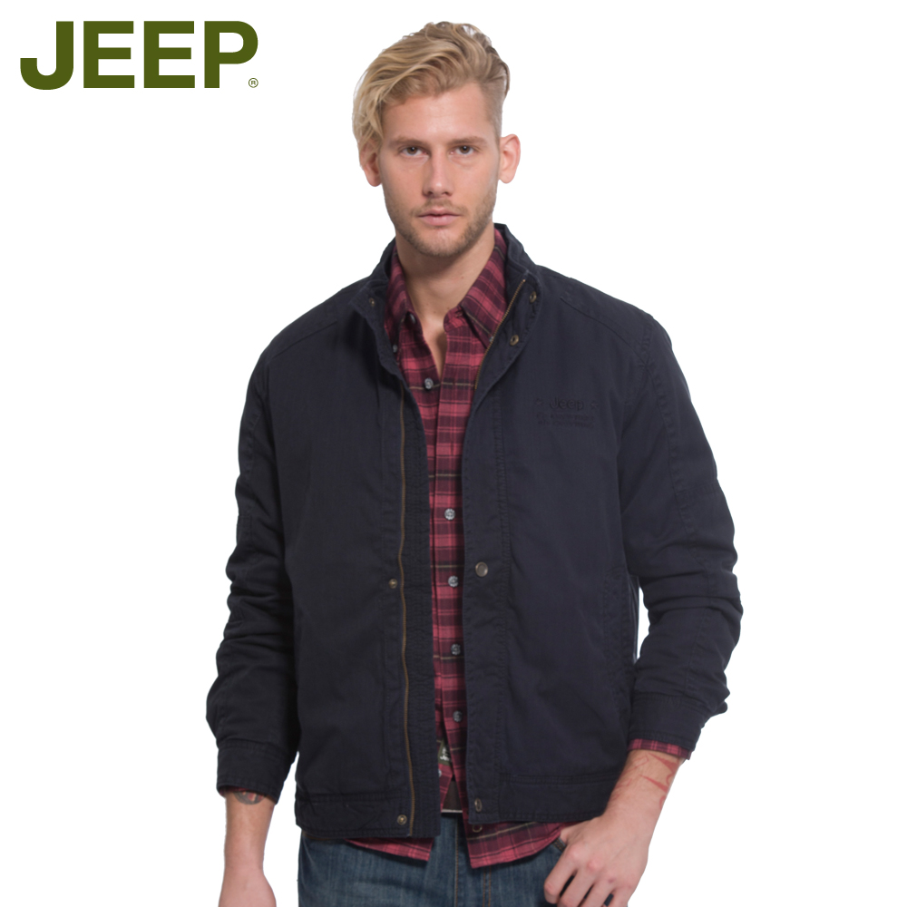 Jeep/jeep men's autumn and winter coat solid color large size outdoor leisure collar cotton padded clothes JW10WJ202