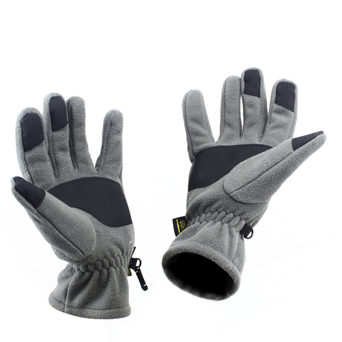 Male wolf outdoor fleece gloves warm autumn and winter gloves male ms. plus thick cold wind ski mountaineering fishing