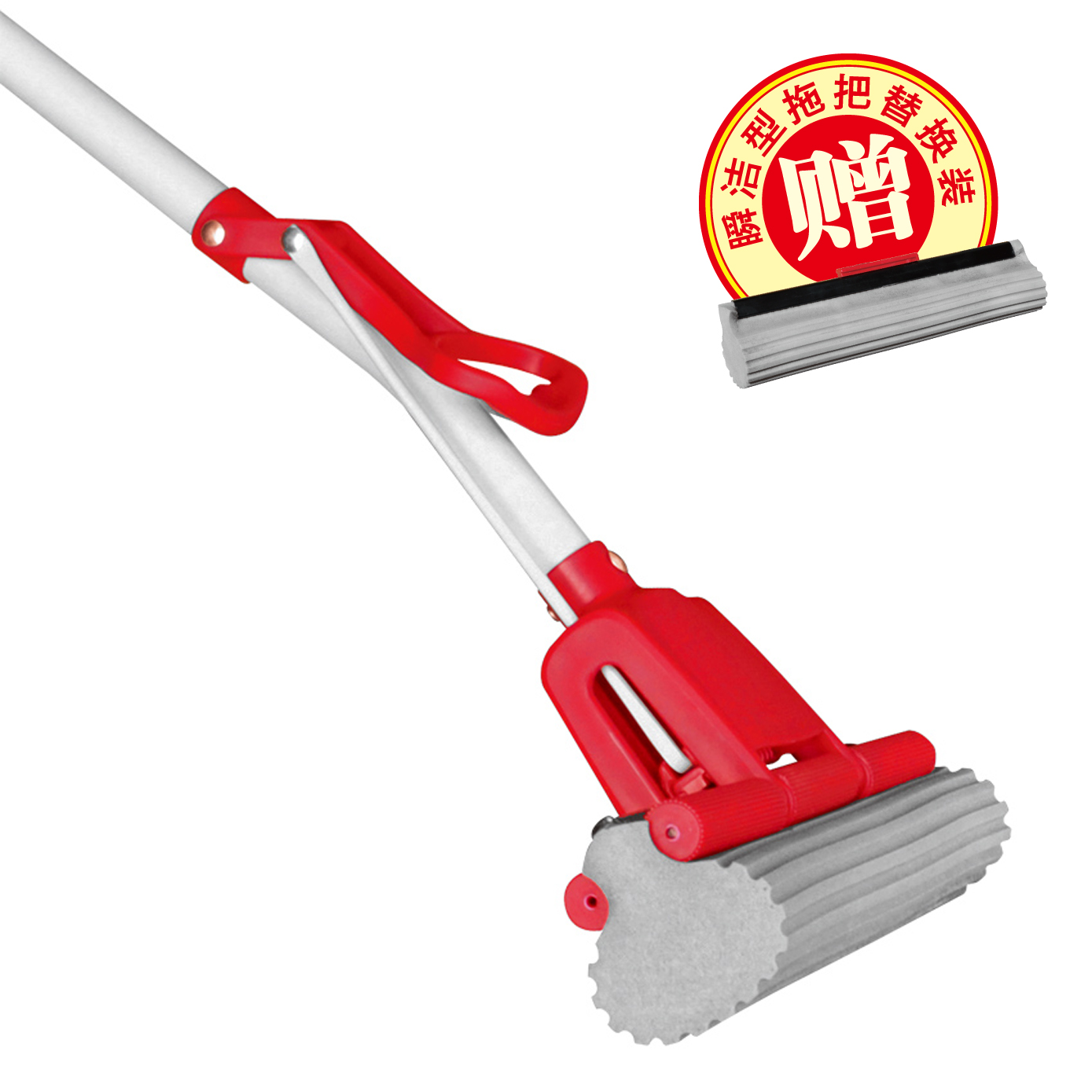 Yekee/yi yi jie cleaning roller glue cotton mop squeeze mop water absorbent sponge mop to mop mop mop head package Shipping