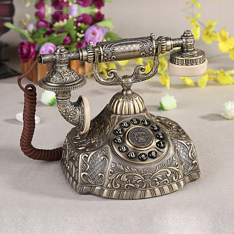 1932 queen's paramount european antique telephone landline home creative retro styling hao hua full metal body