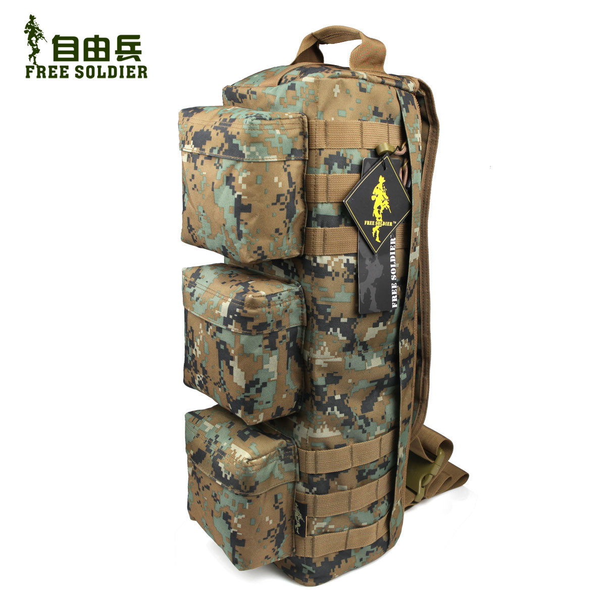 Freedom soldiers transformers assault versatile camouflage bag shoulder bag tactical military fans outdoor tactical shoulder bag