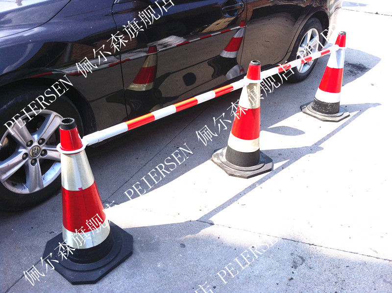 Pvc traffic cone warning telescopic connecting rod connecting rod, retractable traffic cone road connecting rod, warning pole, road cones with arbors