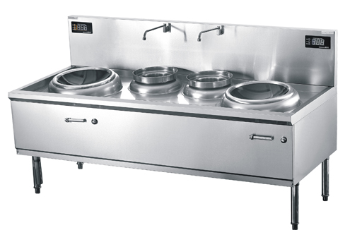 Cool off cookers shi commercial induction cooker 12 KW double double oven fried fry with twin