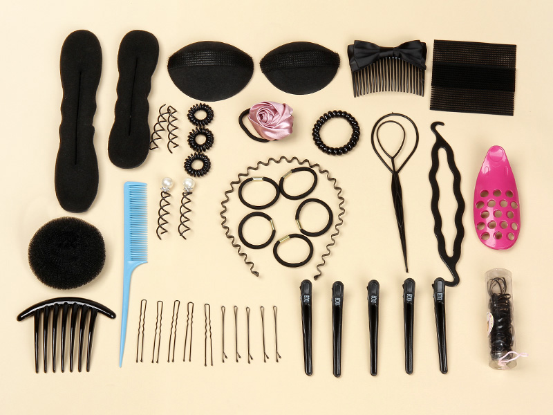 Yuan fei shipping dish hair flaxen hair tools hair tools hair accessories kit combination kit free postage 200g