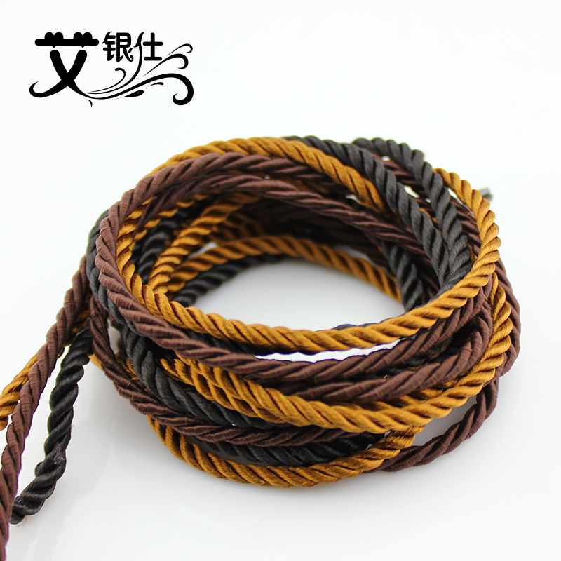 Ai yinshi diy handmade jewelry accessories sweater chain cord bracelet braided wire braided wire rope material direct