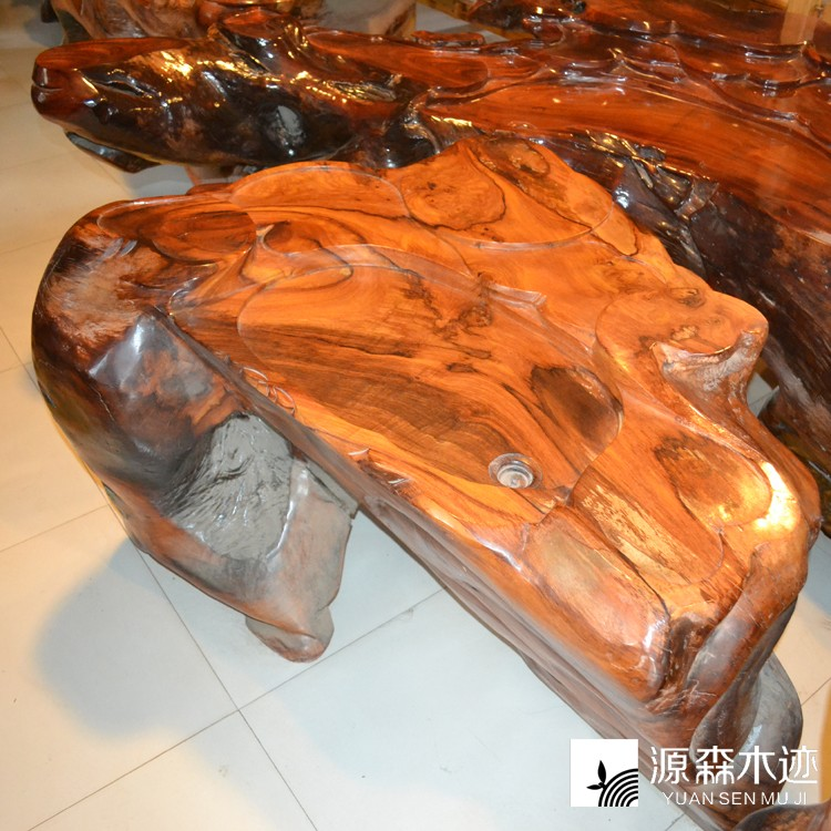 [Source sen wooden track] special laos rosewood carved coffee table/tea table kung fu tea/craft tea table