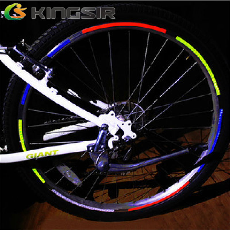 Kingsir bicycle reflective stickers reflective stickers dead fly mountain bike tire bicycle accessories and equipment