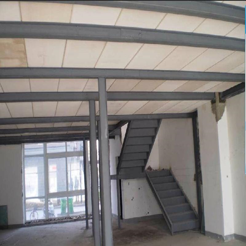 Steel plus attic floor villa design square steel beam welding steel channel attic stairs