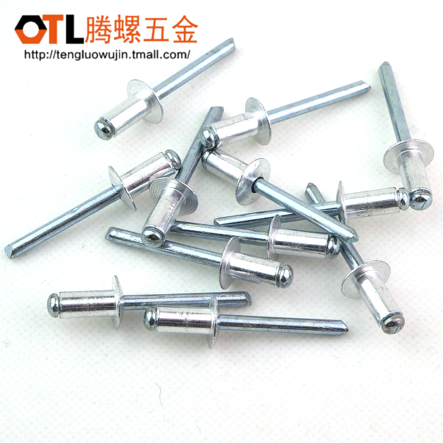 2.4/3.2/4/5/3mm by 6.9kw. pulling open type aluminum blind rivets aluminum rivets blind rivets decorating nails