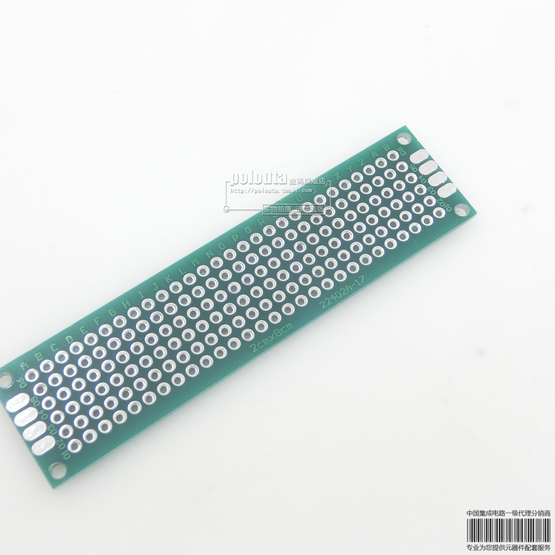 2*8 CM 2.54 spacing sided green oil spray tin universal board pcb board universal test board test board