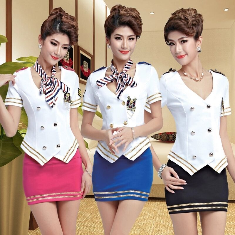 2015 installed new stewardess uniforms hotel ktv princess costume dress sauna technician career suits foot spa bathing suits overalls