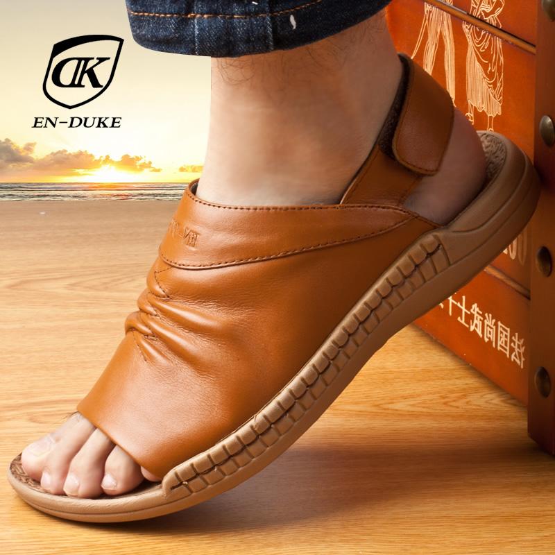 2dfb18b5b4e Get Quotations · 2015 men s leather sandals summer sandals genuine leather  sandals men sandals korean version of casual men