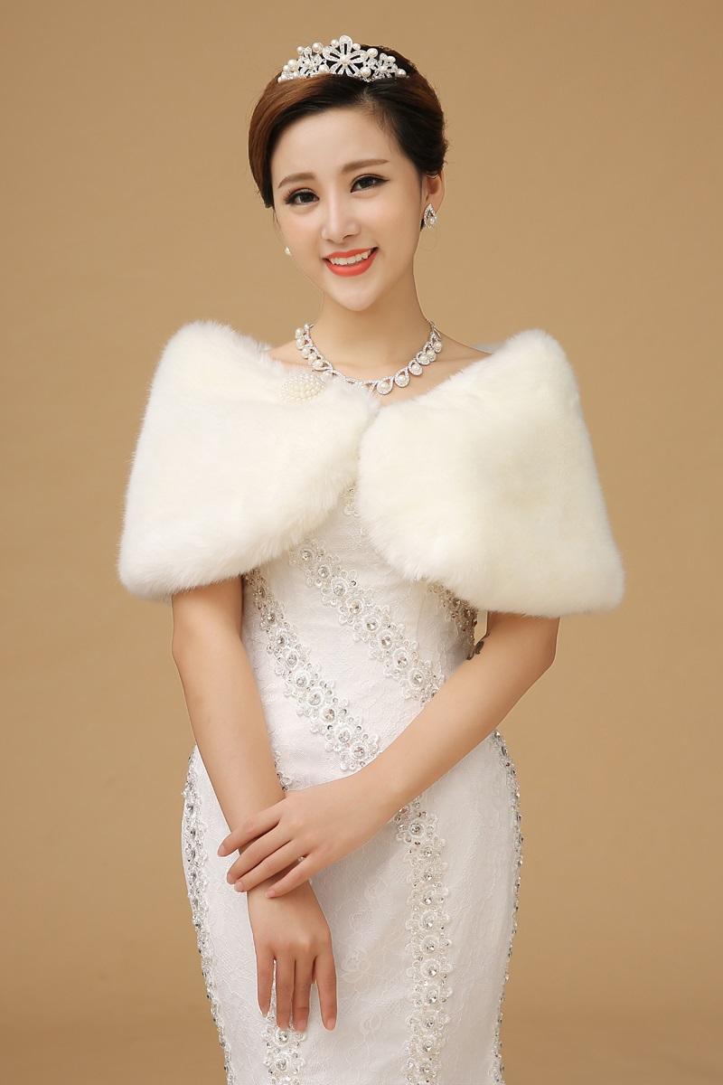 2015 new autumn and winter warm big yards wool shawl bride wedding shawl white fur shawl wedding shawl shawl bridesmaid dresses