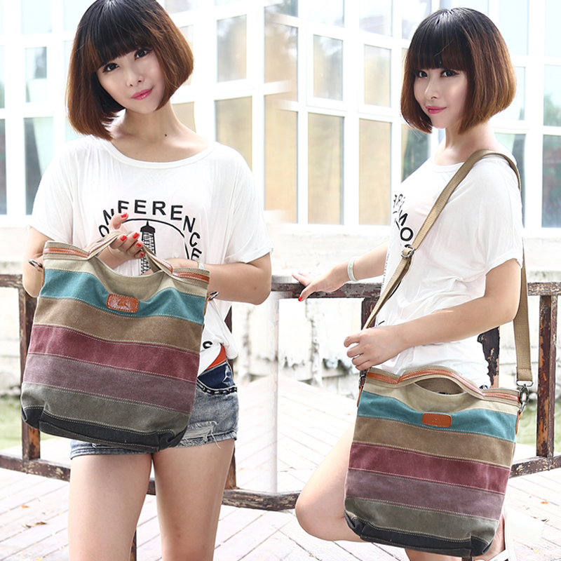 2015 new autumn korean tidal simple canvas bag handbag handbag shoulder bag messenger bag ladies bag big bag