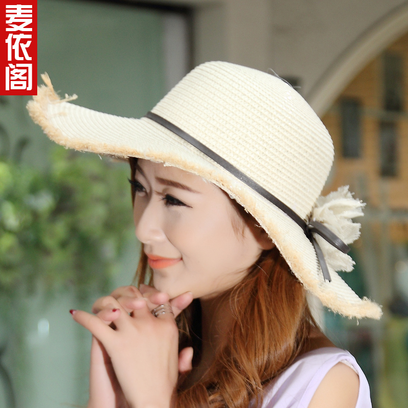 2015 new korean version of the korean female summer beach hat large brimmed hat sun hat large brimmed sun hat straw hat