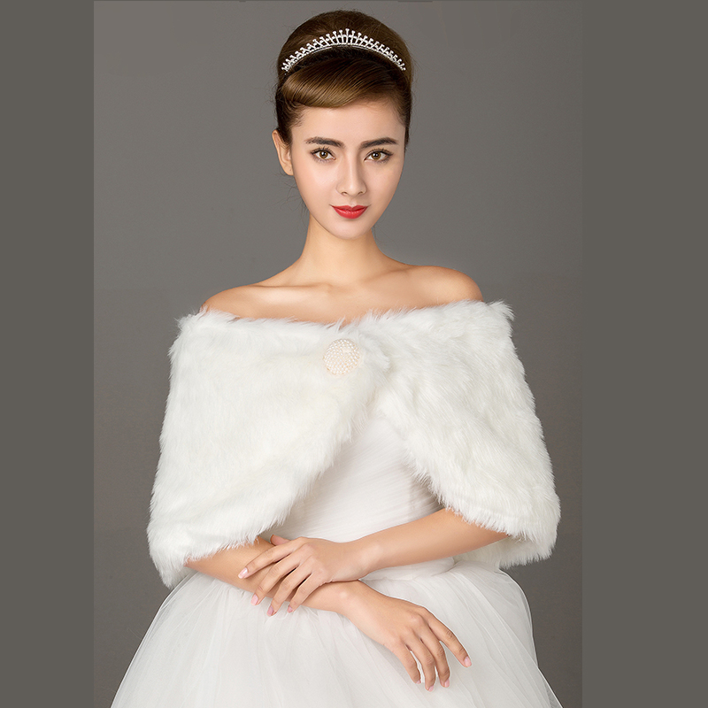 2015 new wedding shawl wool shawl wedding dress bridesmaid dress bride wedding shawl white coat autumn and winter