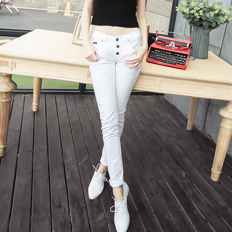 2015 summer new women's jeans straight jeans cotton denim trousers pencil pants korean version was thin leisure