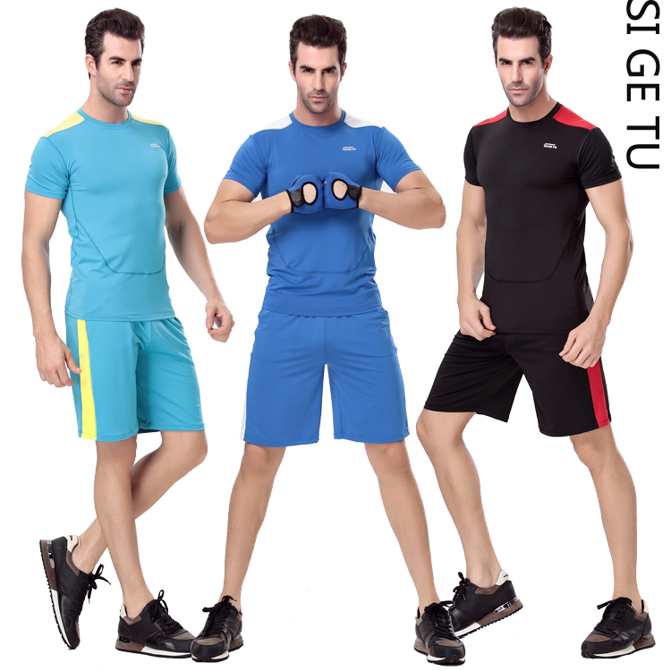 2015 Y0155 + K0152 sige figure aerobics clothing aerobics gym sportswear jogging workout clothes men