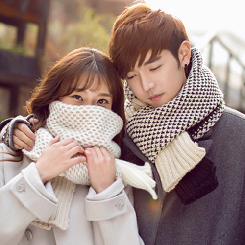 2016 autumn and winter new korean men's long thick wool scarves knitted scarf silk scarf female couple 4C-65